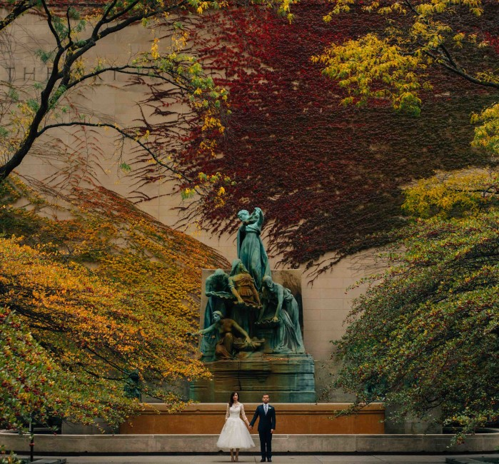 Art Institute of Chicago wedding photography