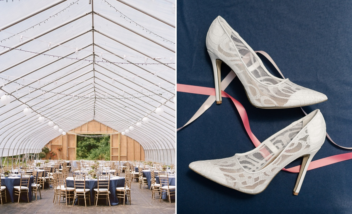 Gorgeous wedding venue and heels