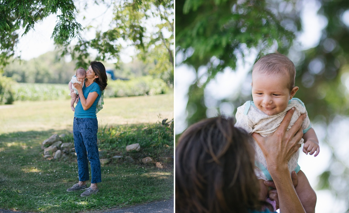 Grandma and baby outdoor pictures