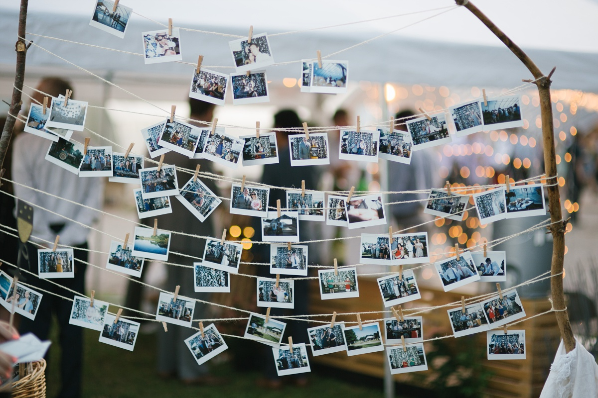 Polaroid Wedding Photo display