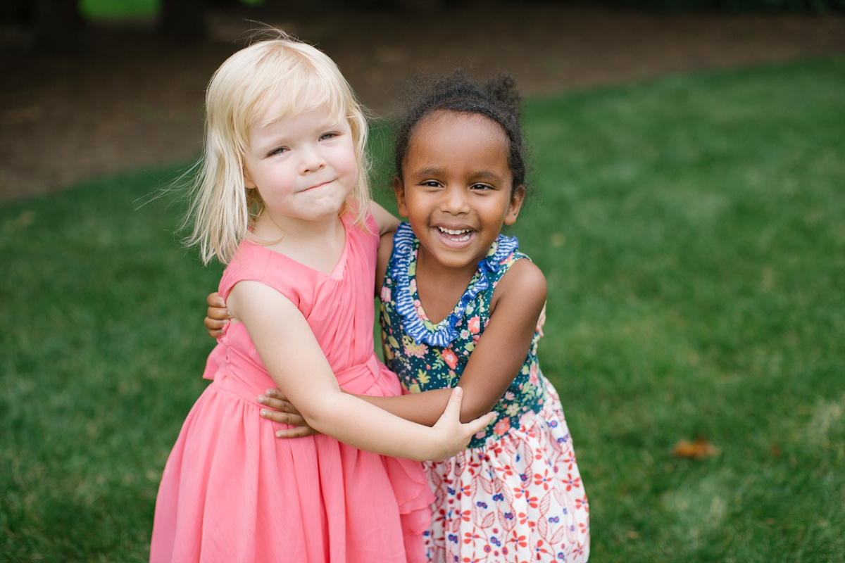 Little girls pose for Hurley Gardens Wedding pictures