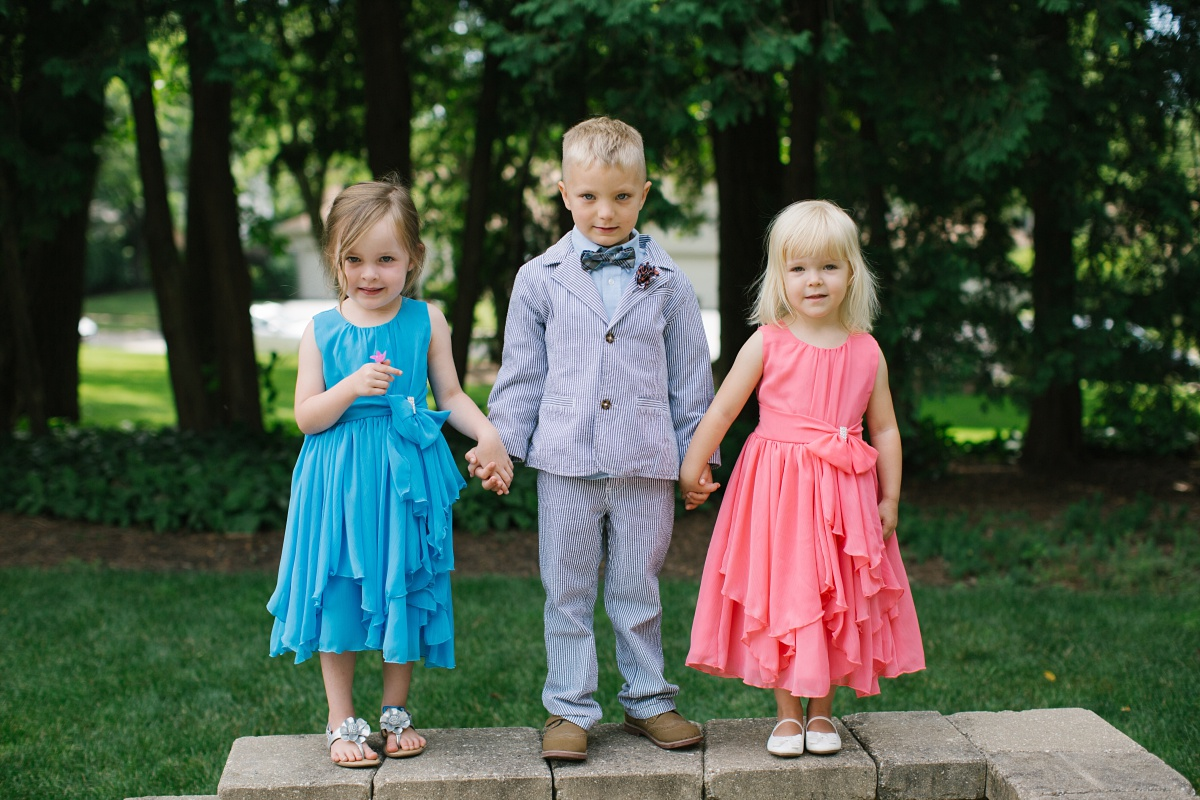 Adorable outfit ideas for young children at a wedding