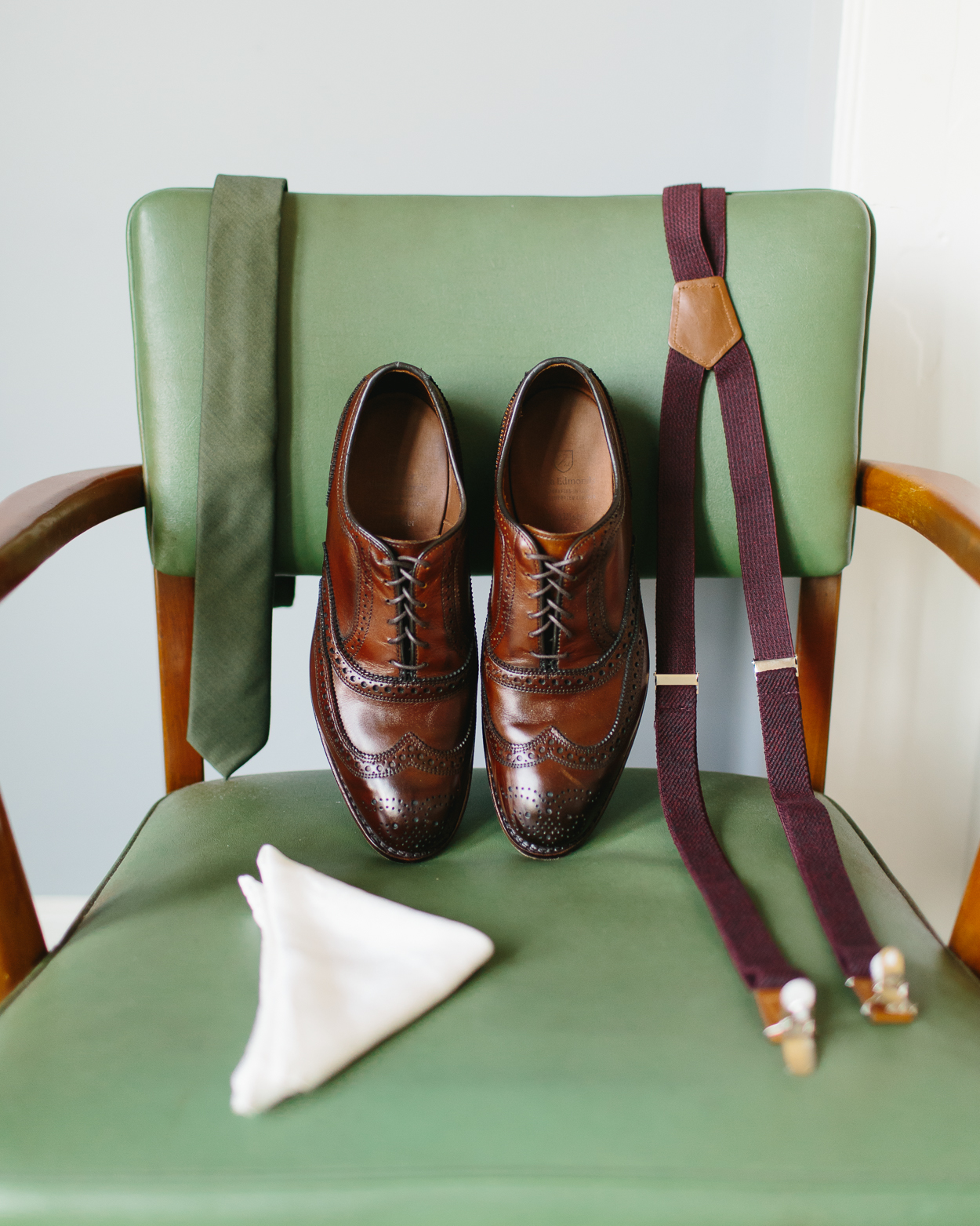 Detailed shot of groom's shoes