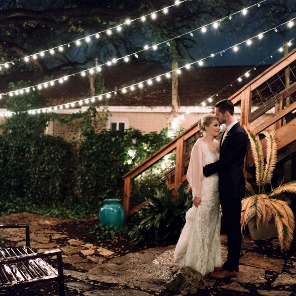 Austin Backyard Garden Wedding: Sara & Tom