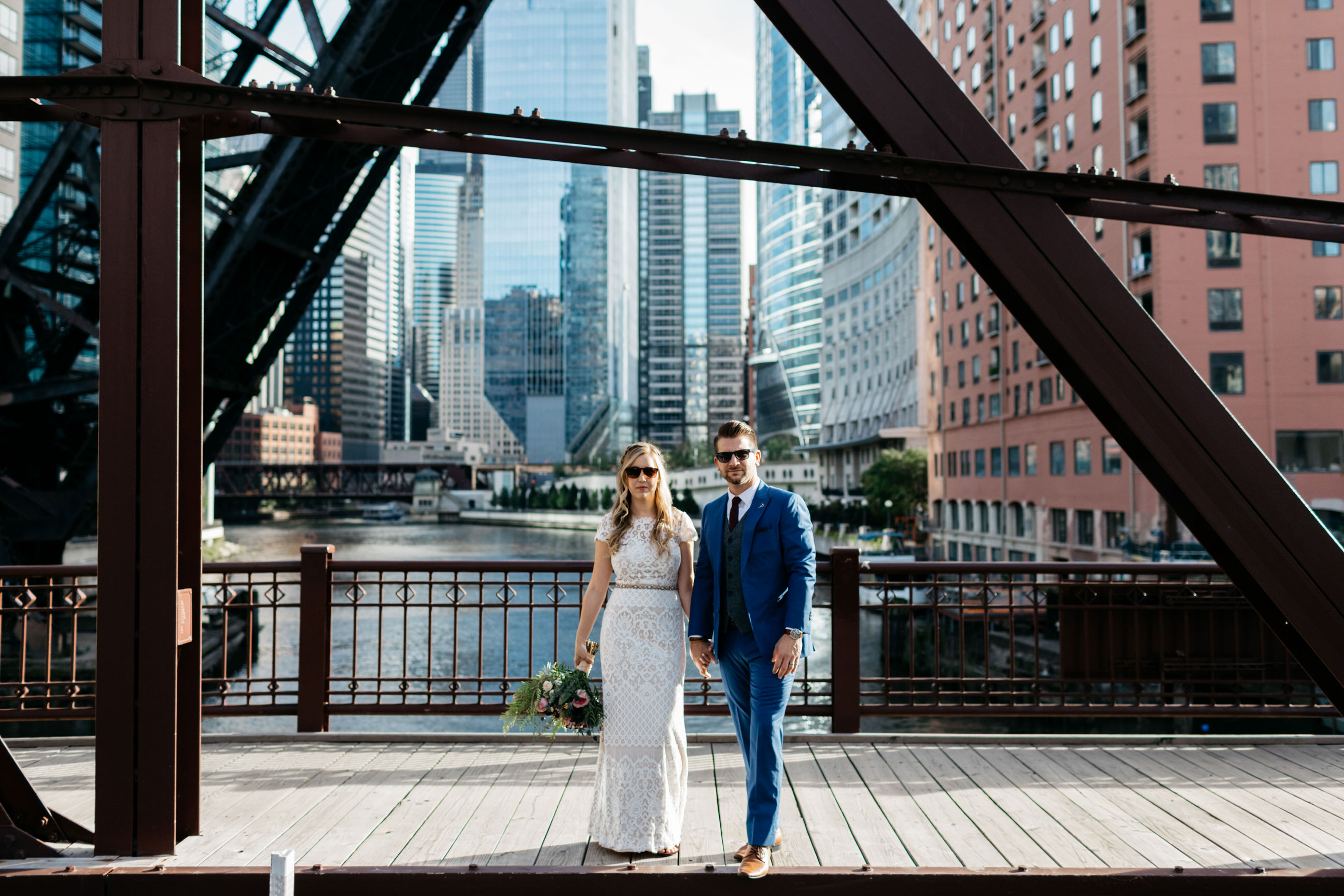 Kinzie Street Bridge Wedding Photos